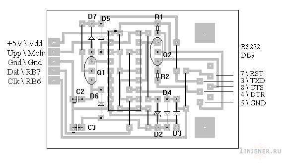 Программатор pic схема микро контролеров
