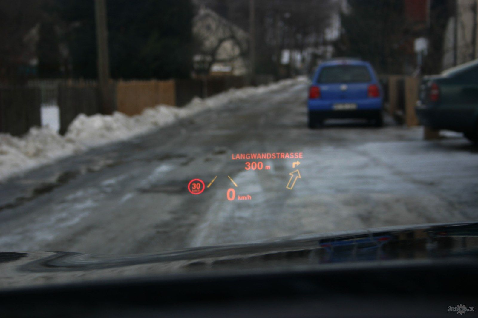 Head-Up Display, HUD.