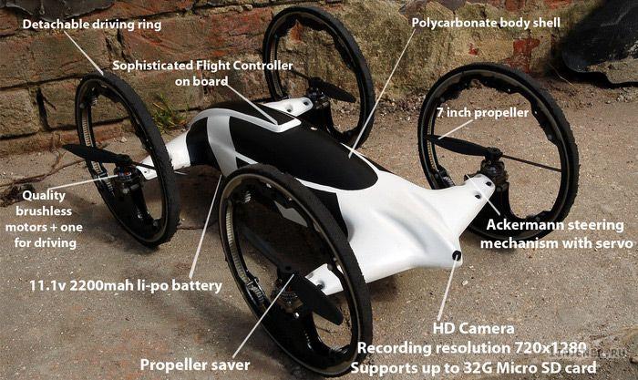 Гибридный автомобиль-игрушка-вертолет