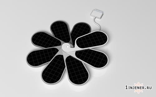 Солнечная панель в форме цветка