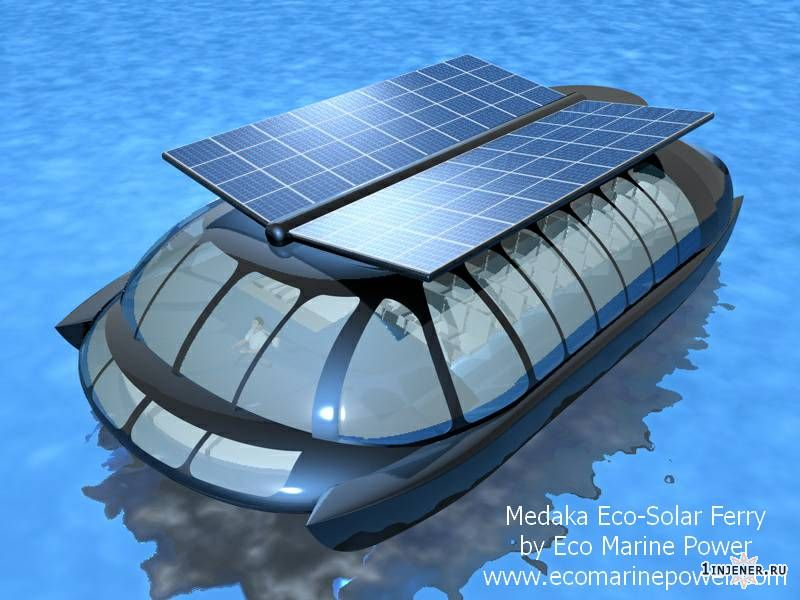 речной трамвайчик на солнечных батареях