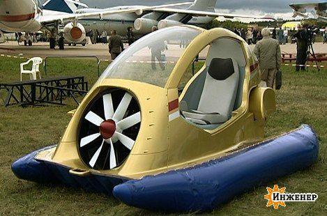 Машина на воздушной подушке своими руками видео